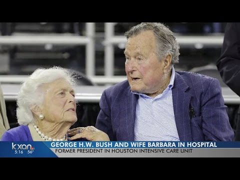 George H.W. and Barbara Bush both hospitalized