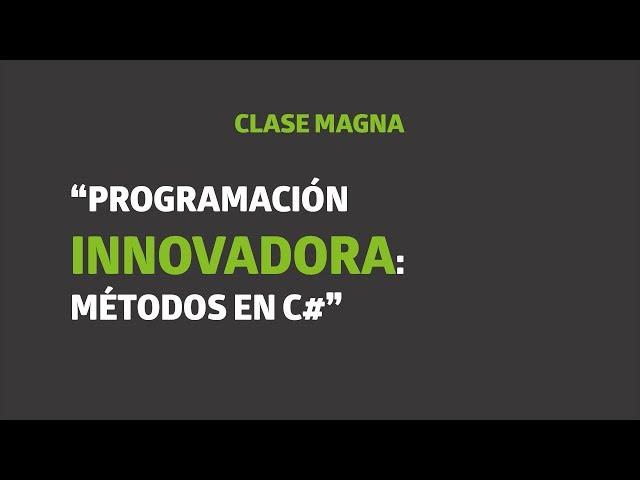 Programación innovadora: métodos en C# | UTEL Universidad