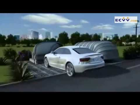 solar energy retractable garage