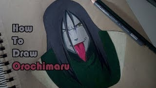 How To Draw Orochimaru | Prismacolors