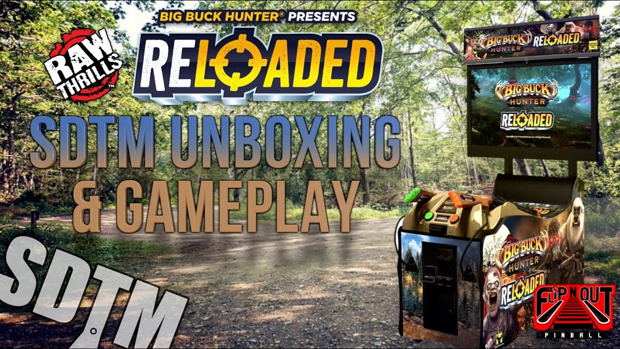 NEW: Big Buck Hunter Reloaded Arcade Unboxing, Setup, & Gameplay (Raw Thrills, 2020)