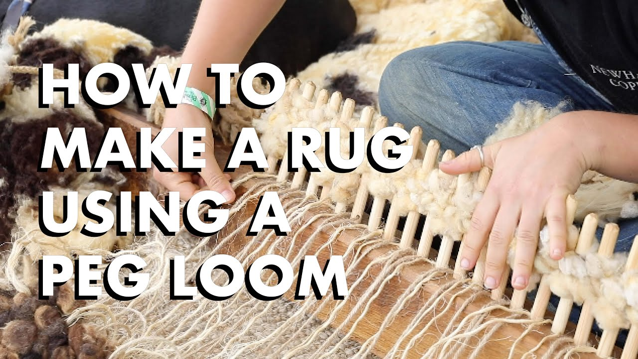 How To Make A Rug Using Peg Loom