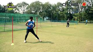Figure Eight Running Drill with Chinmoy Roy   Cricket World TV