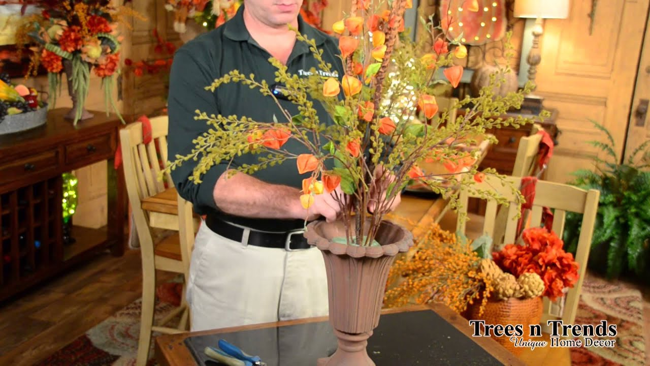 How to make a simple beautiful fall floral arrangement youtube izmirmasajfo