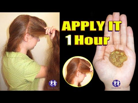 Apply it 1 hour YOUR HAIR WILL GROW LIKE CRAZY, MIRACLE HAIR GROWTH REMEDY TO GET LONG HAIR 2 inches