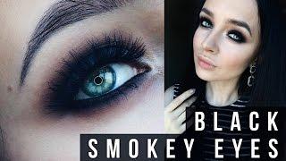 Black smokey eyes  |  Матовый черный смоки