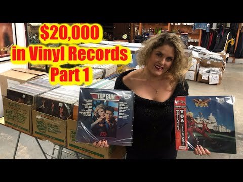 Storage Wars $20,000 CASH In Records Vinyl Collection Part 1 Rock Music