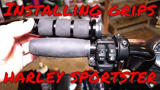 How to Install Grips on a Harley Davidson Sportster