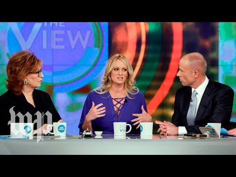 Stormy Daniels on 'The View', annotated