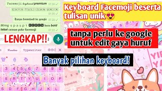 TERBARU! CARA MENGGUNAKAN APLIKASI FACEMOJI | Keyboard Facemoji screenshot 3