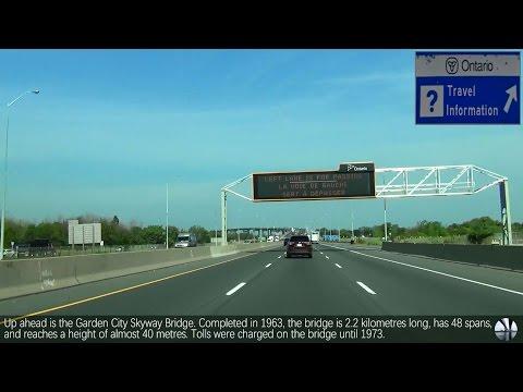Niagara Falls, Ontario - Queen Elizabeth Way (QEW) - Highway 420 WB