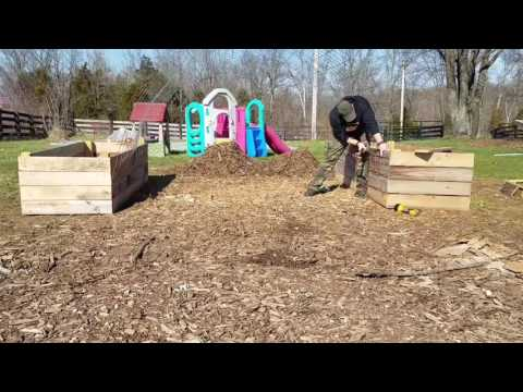 DIY build of raised garden bed with arch. Part 3