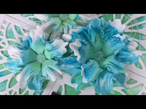 Paper flower CE Hibiscus with Cosmic shimmer salt