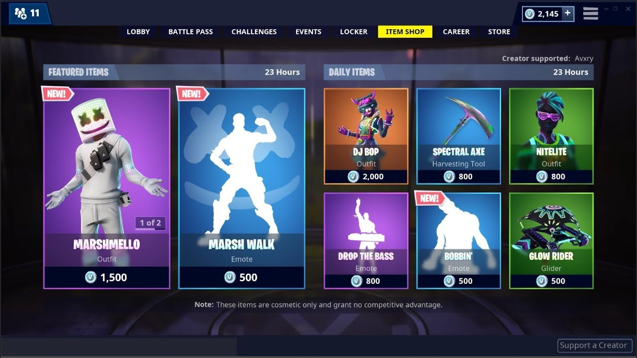 *NEW*Marshmello Skin and Marsh Walk Emote! Fortnite Item ...