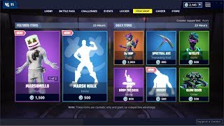 *NEW*Marshmello Skin and Marsh Walk Emote! Fortnite Item Shop February 1, 2019