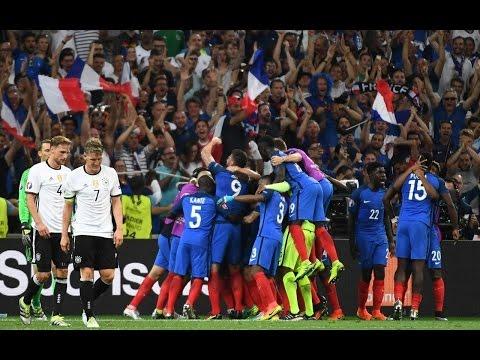 """France Beats Germany.  Everyone Goes Nuts. (""""La France Bat L'Allemagne. Tout le Monde Devient Fou."""")"""