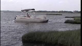 Beaching the Pontoon Boat