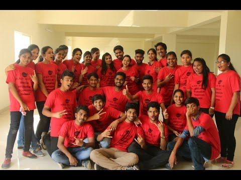 radian  2K17 flash mob by Information technology students of  ANITS