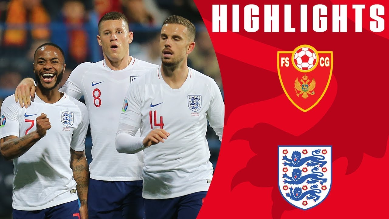 Montenegro 1 5 England Barkley Brace Sterling Shines Again Euro 2020 Qualifiers England
