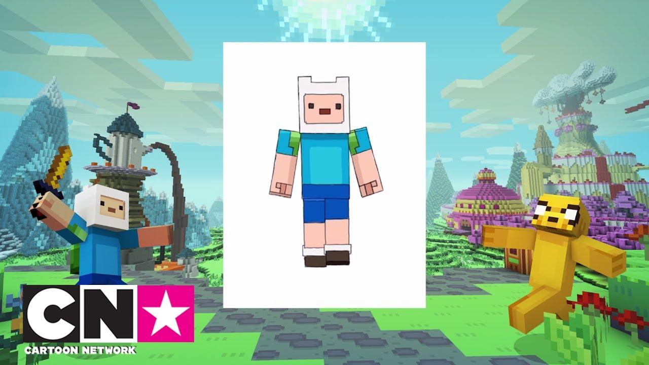 Adventure Time X Minecraft How To Draw Finn Cartoon Network
