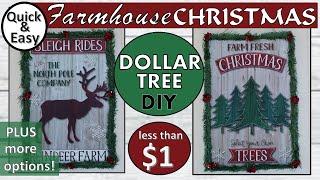 DOLLAR TREE DIY CHRISTMAS DECOR   DIY CHRISTMAS SIGNS