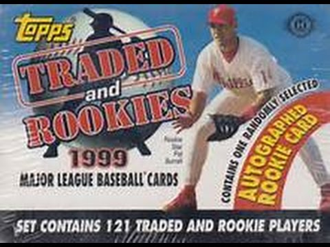 1999 Topps Traded Baseball Set Break 1 Auto