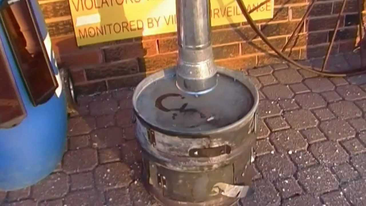 Home Made Wood Stove Urban Survival Youtube