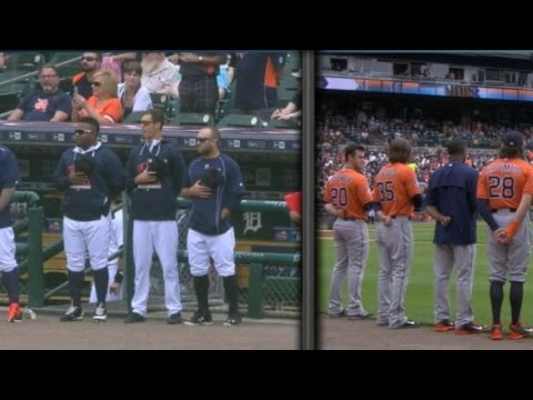 Tigers defeat Astros in standoff before game