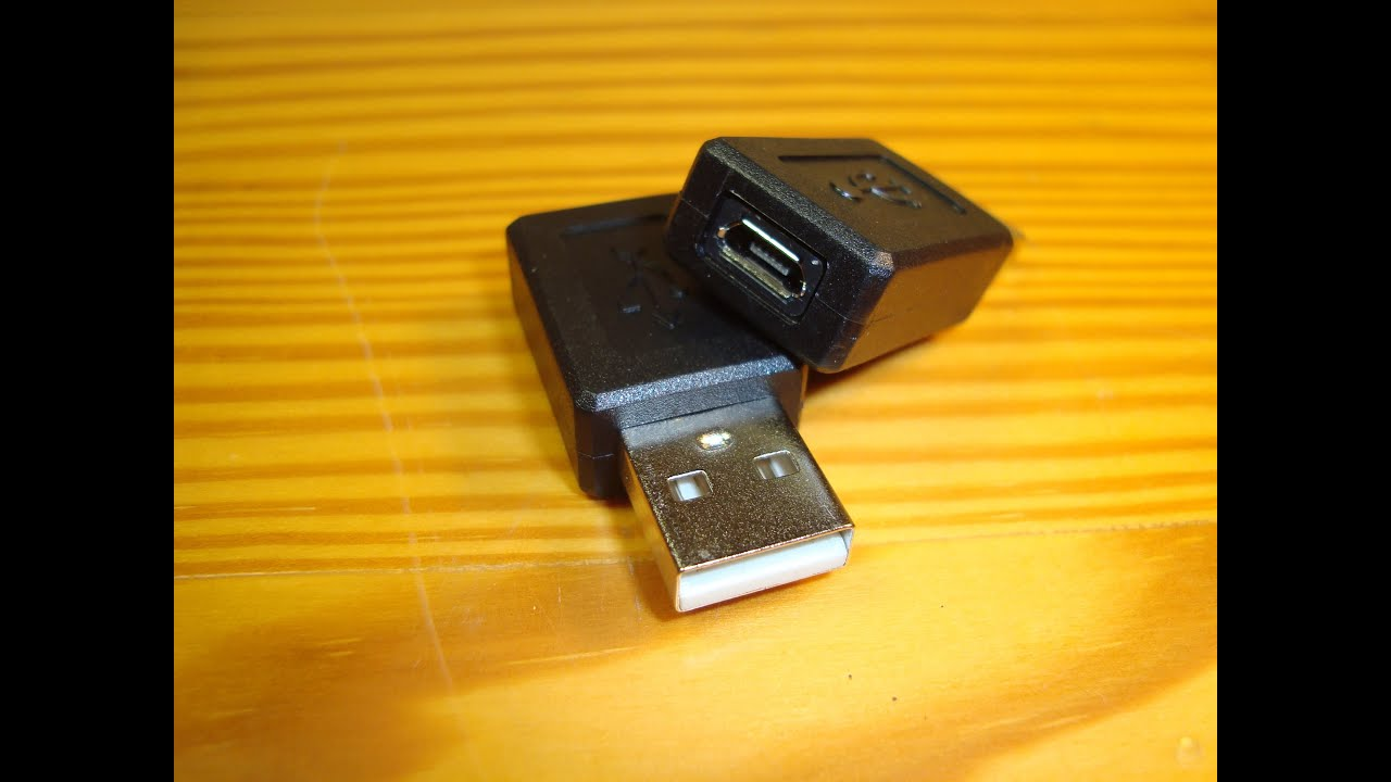 Usb Type A Male To Micro Usb Type B Female Adapter
