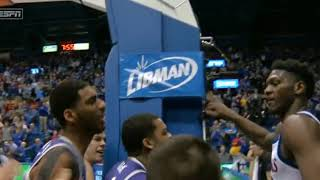 Kansas State vs Kansas Fight (Basketball)