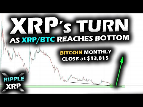 A WEEK TO REMEMBER Ripple XRP Price Chart Reaches 2017 Lows Vs BTC As Bitcoin Monthly Candle Closes