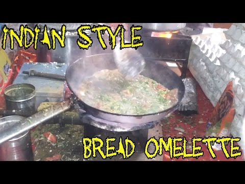 Bread Omelette Indian Style