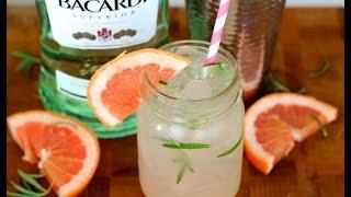 Cocktail Recipe Grapefruit Rosemary Mojito by CookingForBimbos.com