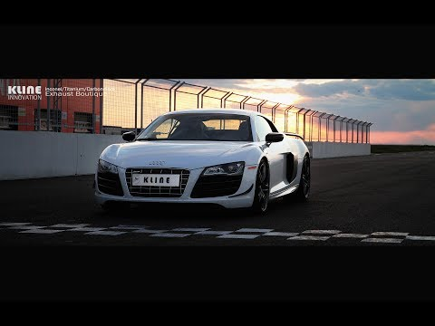 Audi R8 GT, valvetronic race exhaust by Kline Innovation