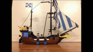 Lego Pirates 6274 Caribbean Clipper - stop motion review