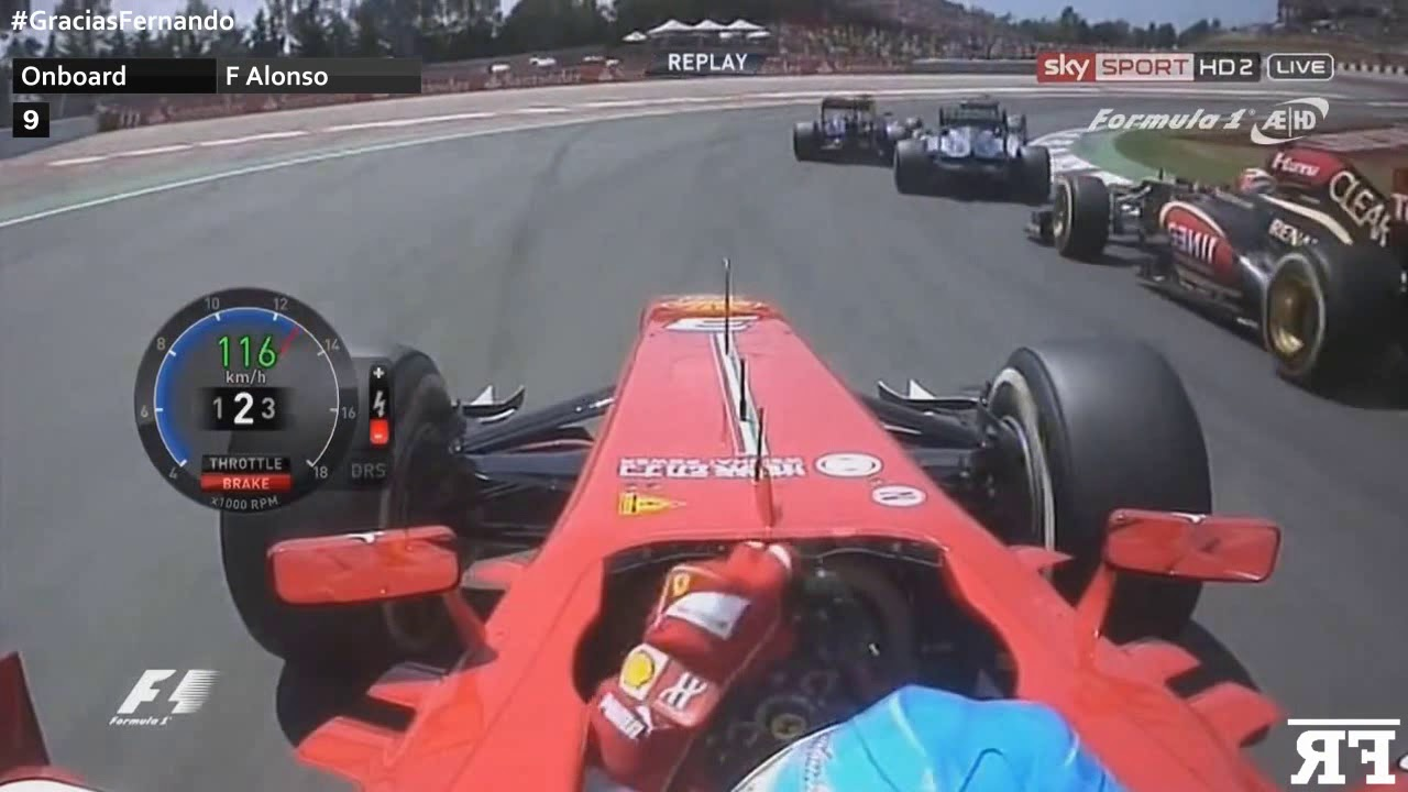 F1 Onboard   F1 Fernando Alonso's Top 15 Starts