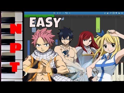 Fairy Tail Main Theme - EASY Piano Tutorial