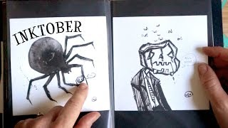 I ACTUALLY FINISHED INKTOBER! - My art book tour