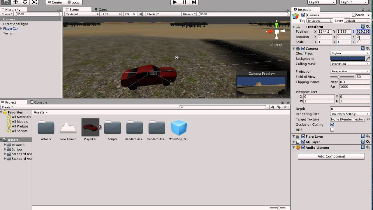 How to make a Unity car game simple