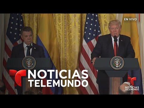 Rueda de prensa de Presidente Trump y Presidente Juan Manuel Santos | Noticiero | Noticias Telemundo