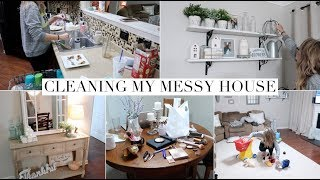 ULTIMATE CLEAN WITH ME & UNDECORATE WITH ME 2018 | EXTREME CLEANING MOTIVATION | MESSY HOUSE