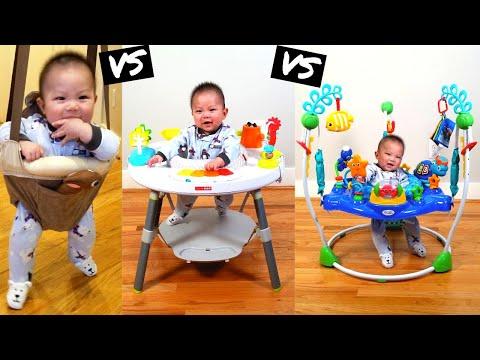 Baby Jumpers Review Evenflo ExerSaucer Door Jumper, Skip Hop Activity Center, & Baby Einstein
