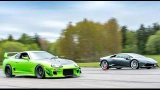 [4k] Supra 1000+ HṖ vs Lamborghini Huracán LP610-4