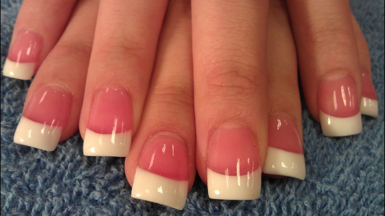 HOW TO SIMPLE PINK & WHITE NAILS STEP BY STEP PART 1 - YouTube