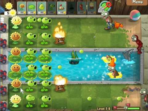 Plants Vs Zombies 2 Pak Pool Day 8 Torchwood Youtube