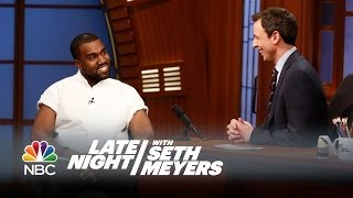 Kanye West on Fatherhood - Late Night with Seth Meyers