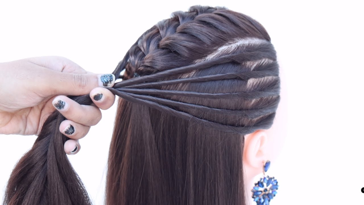 4 fancy look hairstyle for girls   two ponytail hairstyle   puff hairstyle   new hairstyle