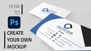 Create Stylish Business Card Photoshop Mockup in 5 Minutes