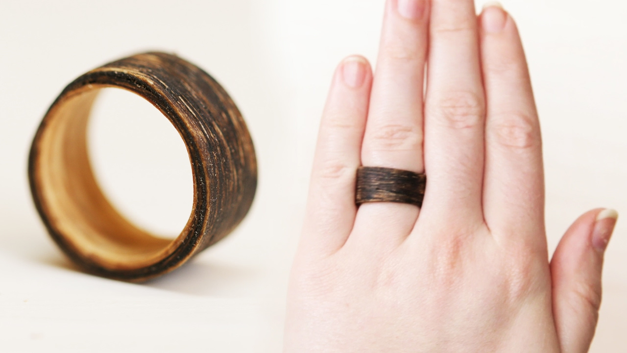 DIY Two-Tone Wooden Ring - YouTube
