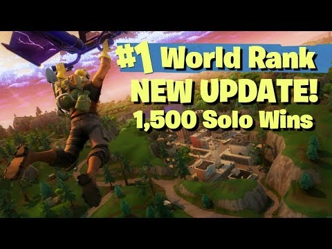 NEW MAP UPDATE - #1 WORLD RANKED 1500 SOLO WINS! - FORTNITE BATTLE ROYALE LIVE STREAM